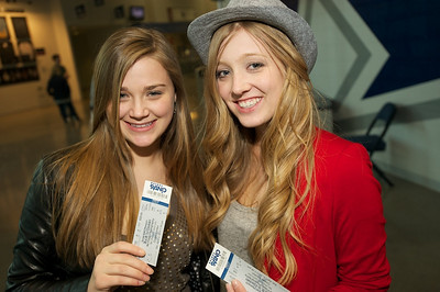Julia Myers and Olivia Shutey of Canton, OH at the Cintas center for B.o.b