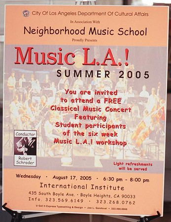 BOYLE HEIGHTS YOUTH SYMPHONY ORCHESTRA MUSIC L.A.! 2005