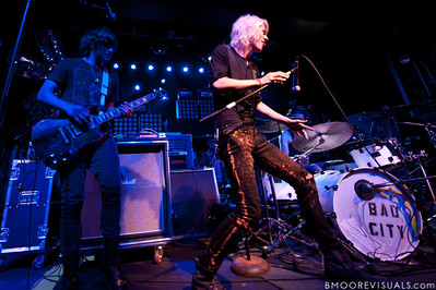 Tom Schleiter and Josh Caddy of Bad City perform on July 21, 2010 at The Ritz in Ybor City, Tampa, Florida