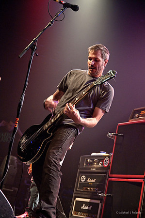 Jay Bentley Bad Religion Opening for Rise Against Fillmore Auditorium, Denver, CO  April 16, 2011