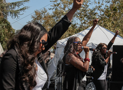 VAN NUYS, CA - SEPTEMBER 15:  Singing group SWV performs at the 1st annual Balboa Music Festival at Lake Balboa Park on September 15, 2012 in Van Nuys, California.  (Photo by Chelsea Lauren/WireImage)