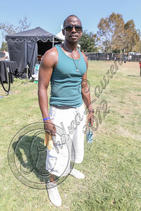VAN NUYS, CA - SEPTEMBER 15:  Actor Keith Robinson poses backstage at the 1st annual Balboa Music Festival at Lake Balboa Park on September 15, 2012 in Van Nuys, California.  (Photo by Chelsea Lauren/WireImage)