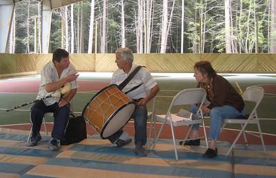 Angel invited Dzhenko to play gajda with us. Angel and Dzhenko are members of the Bulgarian band Kabilé, which began its U.S. tour at Balkan Camp.