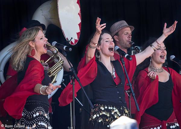 Balkanistas at the Newtown Festival Street Fair, Wellington, 8 March 2015