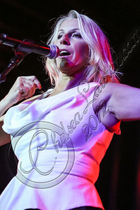 HOLLYWOOD, CA - OCTOBER 11:  Singer Sara Dallin of Bananarama performs at Hard Rock Cafe's 13th Annual 'PINKTOBER' Breast Cancer Awareness Campaign at Hard Rock Cafe - Hollywood on October 11, 2012 in Hollywood, California.  (Photo by Chelsea Lauren/WireImage)