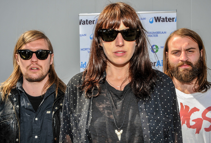 Band Of Skulls showing their support for WaterAid Charity at Evolution 2012