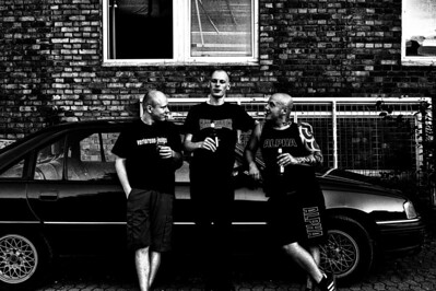 Brusthaartoupet Members of the german Oi-Punk-Band
