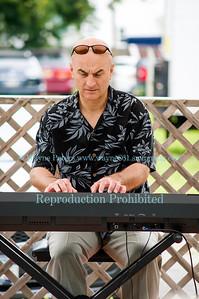 Pianist Joe Brancato at the Lewiston Jazz Festival, in Lewiston, NY on August 23, 2014.