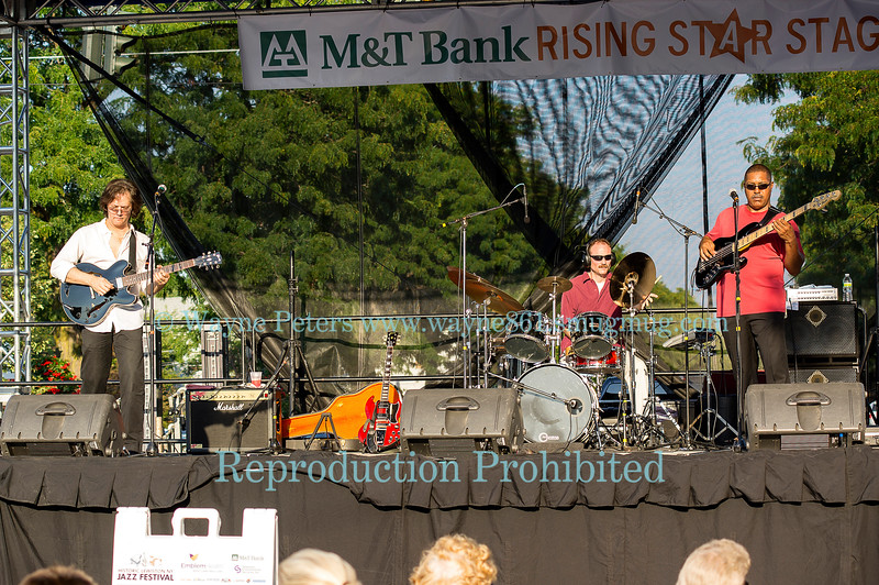 The Vincent James Explosion at the 2012 Lewiston Jazz Festival in Lewiston, NY.