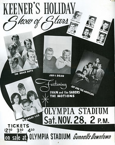 "The Olympia Stadium, home of the Detroit Red Wings, was the scene of many concerts including the Beatles and Rolling Stones.  I have no idea who ""Ivan and the Sabers"" were or ""The Motions""."