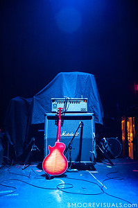 Instruments await Bear Hands' arrival on stage shortly before their performance on May 2, 2010 at State Theatre in St. Petersburg, Florida