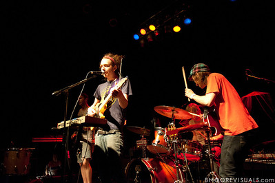 Val Loper, Dylan Rau, TJ Orscher, and Ted Feldman of Bear Hands performs on May 2, 2010 at State Theatre in St. Petersburg, Florida