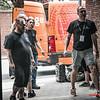 Het lossen van de Evergrey bestelwagen kan beginnen @ Headbanger's Balls Fest Team - 't Sok - Kachtem - West-Vlaanderen
