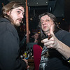 """Gitarist Fane in gesprek met de man achter de fanclub - Videoclip voorstelling """"Chtonic Star"""" - Café Den Deugniet - Kortrijk"""