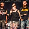 Louis Soenens & Wesley Decru samen met presentatrice Beeze Deeze @ Headbanger's Balls Fest - 't Sok - Kachtem - West-Vlaanderen