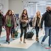 Zanger Peter Theuwen met een gering deel van de meegereisde fanbase @ Sofia Airport - Sofia - Bulgarije