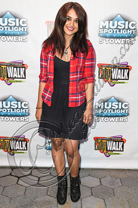 UNIVERSAL CITY, CA - AUGUST 31:  Musician Jasmin Poncelet arrives at Universal CityWalk's free music spotlight series at 5 Towers Outdoor Concert Arena on August 31, 2012 in Universal City, California.  (Photo by Chelsea Lauren/WireImage)