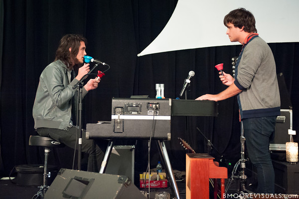 Sean Curran and Josh Luker of Bellarive perform on November 5, 2010 during Canvas at Element Church in Tampa, Florida