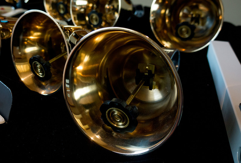 The handbells are works of art.