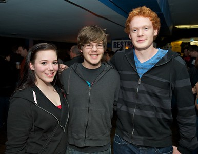 Emily Schexnaydre, Greg Pacer and Tim Filloon from UC at Bogarts Wednesday to see Ben Folds