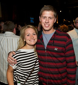 Sydney Stoehr and Sam Whedon of Cincinnati at Bogarts Wednesday to see Ben Folds