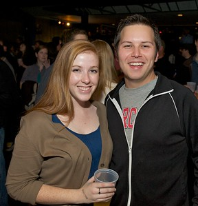 Carrie Waide and Max Brumbach of UC at Bogarts Wednesday to see Ben Folds