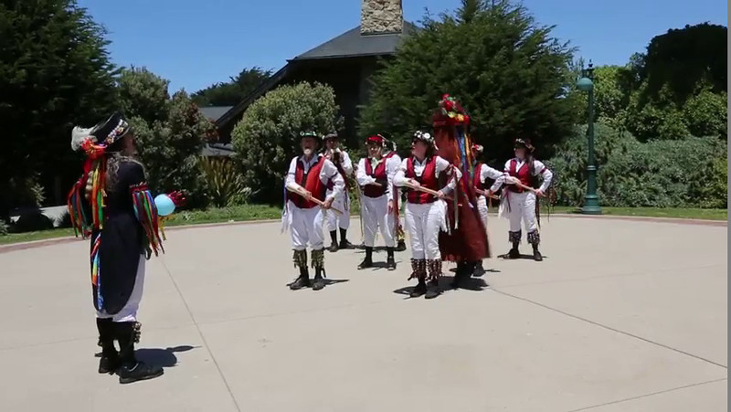 "My very first video is dedicated to the Berkeley Morris dancers!  Bells, streamers, kerchiefs and sticks - they've got it all!  Thanks for coming to the San Francisco Zoo! (If you're interested in learning more about this kind of dancing, go to:    <a href=""http://www.berkeley-morris.org"">http://www.berkeley-morris.org</a>)"