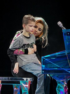 LADY GAGA AND HER NEW FRIEND OWEN AT THE WELLS FARGO CENTER