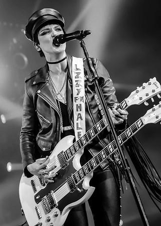 Lzzy Hale of Halestorm at the BB&T Pavilion