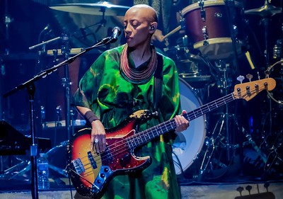 Gail Ann Dorsey with Lenny Kravitz- The Met