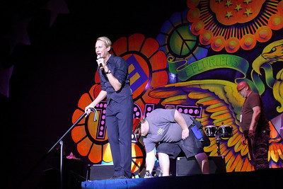 Carson Kressley stepped out again to introduce the B-52's.