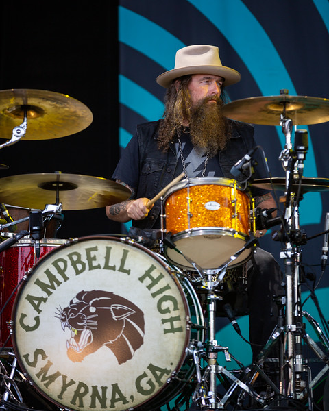 Blackberry Smoke opening for Tedeschi Trucks Band at the Farm Bureau Insurance Lawn at White River in Indianapolis, Indiana on July 24, 2019. Photo by Tony Vasquez for Jams Plus Media.