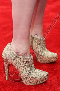 CULVER CITY, CA - DECEMBER 08:  Singer RaeLynn (shoe detail) arrives at the JCPenney 12 day holiday giving tour performance at JCPenney on December 8, 2012 in Culver City, California.  (Photo by Chelsea Lauren/WireImage)
