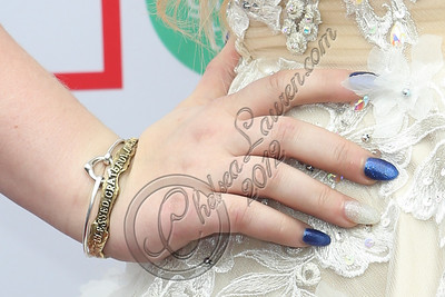 CULVER CITY, CA - DECEMBER 08:  Singer RaeLynn (nail and jewelry detail) arrives at the JCPenney 12 day holiday giving tour performance at JCPenney on December 8, 2012 in Culver City, California.  (Photo by Chelsea Lauren/WireImage)