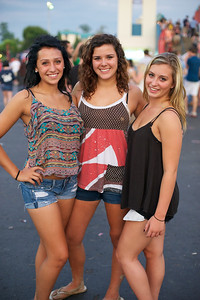 Noelle Hutter, Hannah Morgan and Delaney Ikirt of Springboro, OH at Riverbend Sunday for Blink 182 and My Chemical Romance