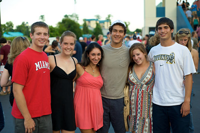 Max, Emma, Alex, Fernando, Jamie and Isaac of Cincinnati at Riverbend for Blink182 on August 13, 2009