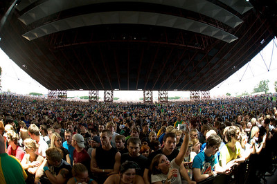 A sold out crowd of 20,500 attended at Riverbend for Blink182 on August 13, 2009