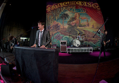 Panic! at the Disco opened up for Blink182 at Riverbend on August 13, 2009