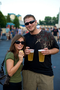 Rachel and Jon of Colerain at Riverbend for Blink182 on August 13, 2009