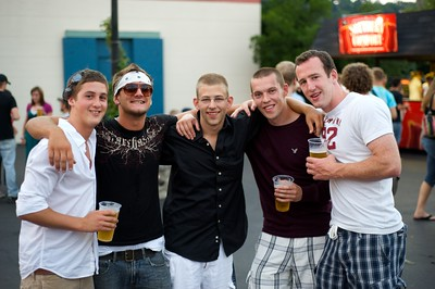 Charles and Elliot of N.KY, John from Indiana, and Shane and Mike from Ireland at Riverbend for Blink182 on August 13, 2009