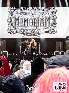 British old school death metal and extreme metal heads Memoriam play the main Ronnie James Dio stage at Bloodstock festival 2018. Featuring Karl Willets, Frank Healy, Scott Fairfax and Andy Whale,