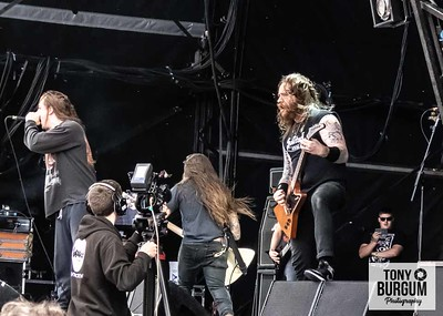 American rockers Power Trip electrify the crowd at the Ronnie James Dio main stage at Bloodstock festival 2018. Featuring Riley Gale, Blake Ibanez, Chris Ulsh, Nick Stewart and Chris Whetzel.