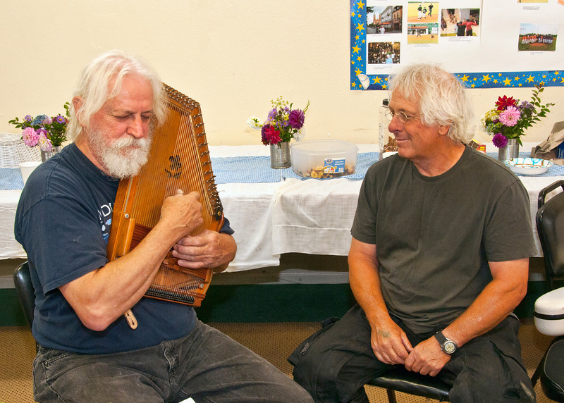 Bryan Bowers and Moe Dixon, who drove up from Oregon to be at our festival.