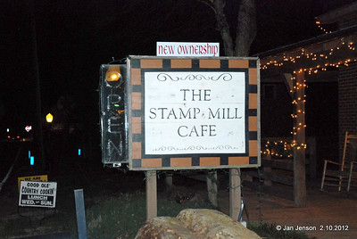 The Stamp Mill Cafe in Gold Hill, NC 2-10-2012