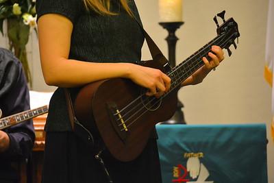 Bass ukelele - The Haining Family at Calvary Free Lutheran Church, Mesa, AZ - 1-15-17
