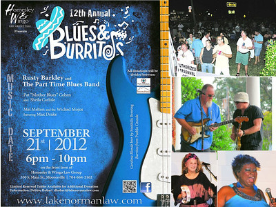 Blues & Burritos poster with Shelia's add