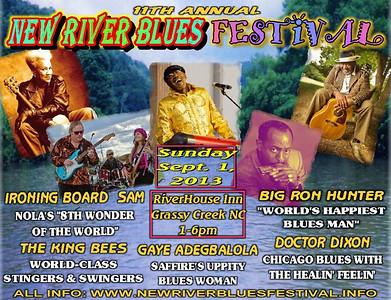2013 New River Blues Festival - Sunday, Sept. 1, 2013
