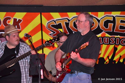 John Mock, Jack Coobs, Ron Sheehan Shades Of Blue - Rockin' Blues Jam @ Stooges, Mint Hill, NC 6-17-15