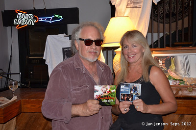Bob Margolin & Amy Hart (holding each other's CDs)