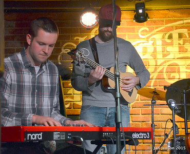 Stress Test at Charlotte Blues Society First Sunday - March 2015 Matt Branniff - keyboard and Flavio Mangione - ukelele bass